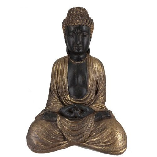 Sitting Buddha Brown-Gold
