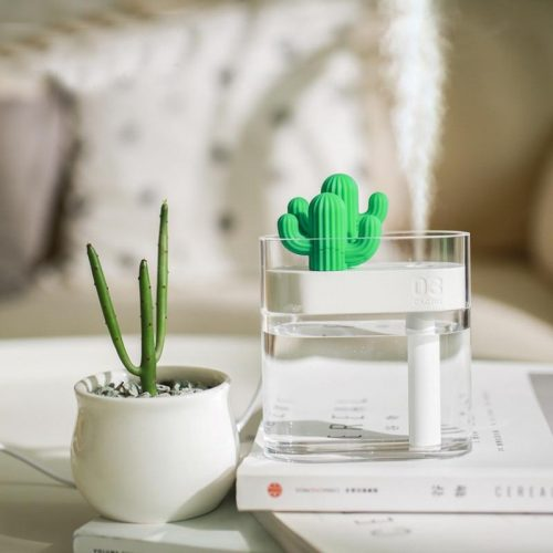 160ML-Ultrasonic-Air-Humidifier-Clear-Cactus-Color-Light-USB-Essential-Oil-Diffuser-Car-Purifier-Aroma-Diffusor_